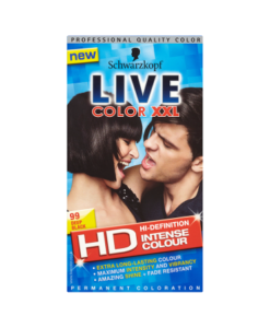 Schwarzkopf Live Color XXL HD Intense Colour Permanent Coloration 99 Deep Black