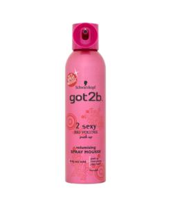 Schwarzkopf got2b 2 Sexy Big Volume Push Up Volumizing Spray Mousse 250ml