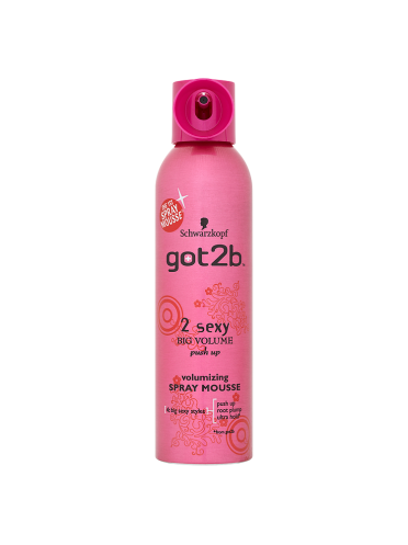 Schwarzkopf got2b 2 Sexy Big Volume Push Up Volumizing Spray Mousse 250ml