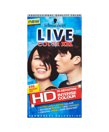 Schwarzkopf Live Color XXL HD Intense Colour Permanent Coloration 896 Midnight Red