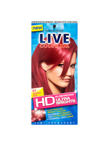 Schwarzkopf Live Color XXL Ultra Brights Semi-Permanent Colour 91 Raspberry Rebel
