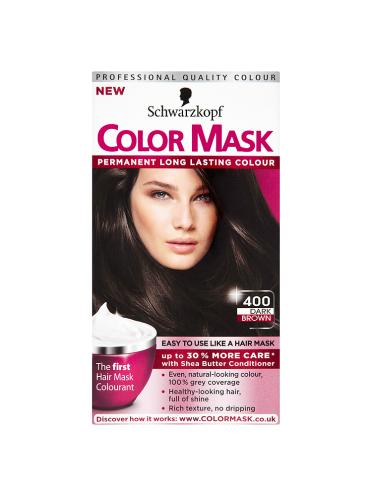 Schwarzkopf Color Mask 400 Dark Brown Permanent Hair Dye