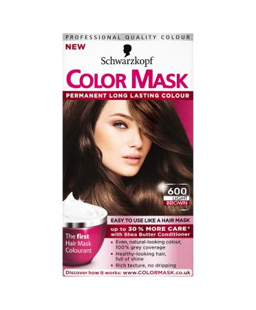 Schwarzkopf Color Mask 600 Light Brown Permanent Hair Dye