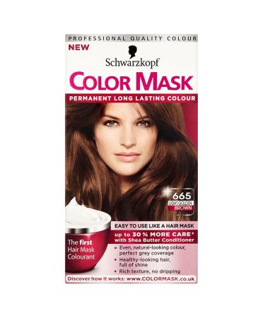 Schwarzkopf Color Mask 665 Light Golden Brown Permanent Hair Dye