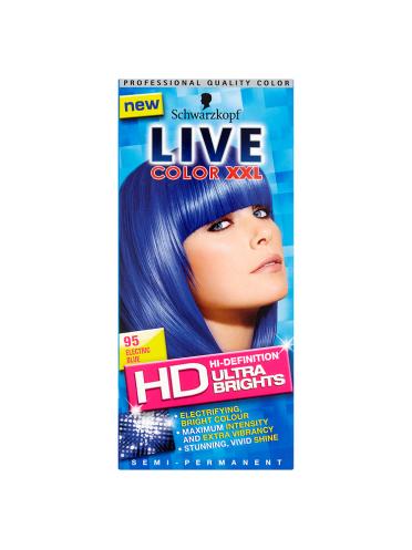 Schwarzkopf Live Color XXL HD Hi-Definition Ultra Brights Semi-Permanent 95 Electric Blue
