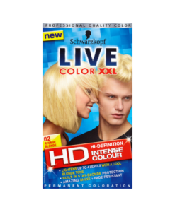 Schwarzkopf Live Color XXL HD Intense Colour Permanent Coloration 02 Atomic Blonde