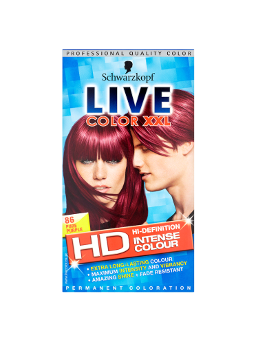 Schwarzkopf Live Color XXL HD High-Definition Intense Colour Permanent Coloration 86 Pure Purple