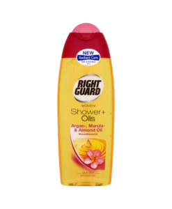 Right Guard Women Shower + Oils Shower Gel Argan, Marula & Almond Oil Monoiblossom 250ml
