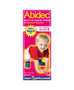 Abidec Multivitamin Syrup Fruity Lemon Flavour 150ml