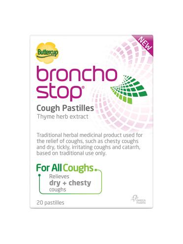 Buttercup Bronchostop Cough Pastilles 20 Pastilles