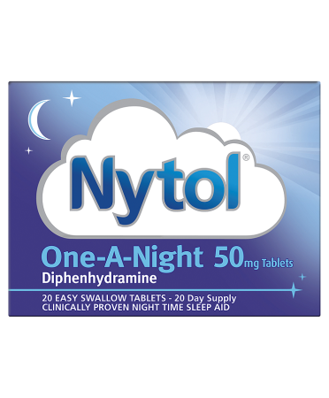 Nytol Diphenhydramine One-A-Night 50mg Tablets 20 Tablets