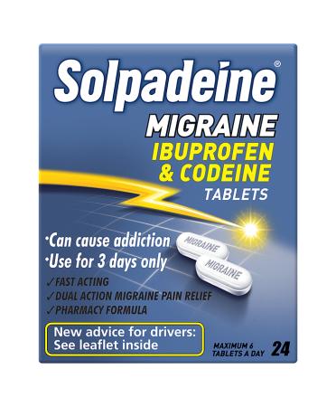 Solpadeine Migraine Ibuprofen & Codeine Tablets 24 Tablets