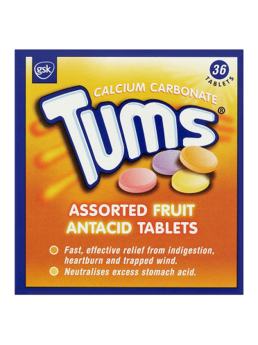 Tums Assorted Fruit Antacid Tablets 36 Tablets