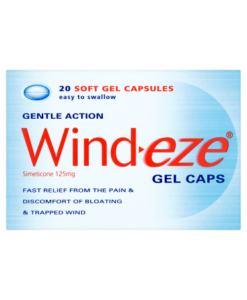 Wind-eze Gentle Action Gel Caps 20 Soft Gel Capsules