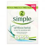 Simple Anti-Bacterial Soap for Sensitive Skin 2 x 125g