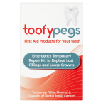 Toofypegs Temporary Filling Material & Capsules of Dental Repair Cement