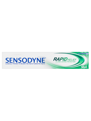Sensodyne Rapid Relief & Long Lasting Protection with Fluoride Mint 75ml