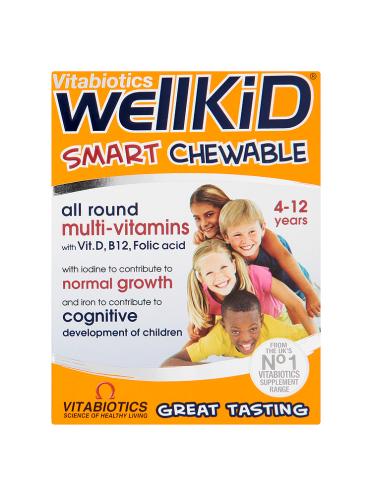 Vitabiotics WellKid Smart Chewable 4-12 Years 30 Tablets