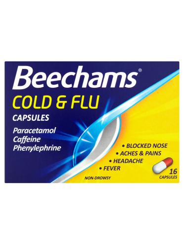 Beechams Cold & Flu Capsules 16 Capsules