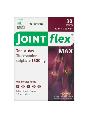 Ransom Health Perception Jointflex Max One-a-Day Glucosamine Sulphate 1500mg 30 Tablets