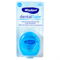 Wisdom Dental Tape Mint Waxed 50m
