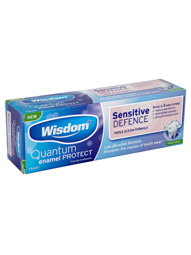 Wisdom Sensitive Defence Fresh Mint Toothpaste 75ml