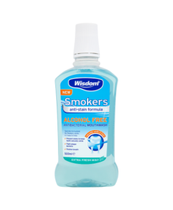 Wisdom Smokers Antibacterial Mouthwash Extra Fresh Mint 500ml