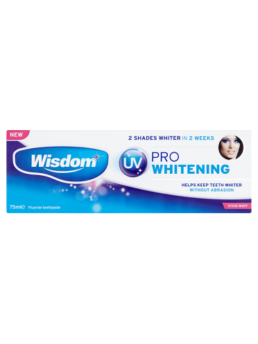 Wisdom UV Pro Whitening Fluoride Toothpaste Vivid Mint 75ml
