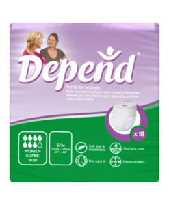 Depend Pants for Women Super S/M x 18