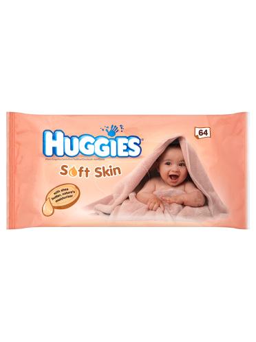 Huggies Soft Skin 64 Wipes