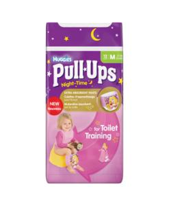 Huggies Pull-Ups Night Time Girls Size M (11-18kg, 24-40lbs) 12 Pants
