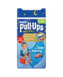 Huggies Pull-Ups Night Time Boys Size M (11-18kg, 24-40lbs) 12 Pants