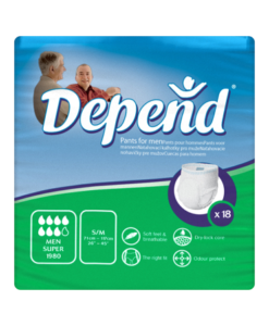 Depend Pants for Men Super S/M x 18