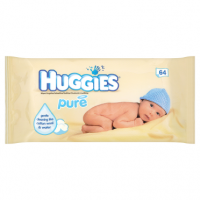 Huggies Pure 64 Wipes