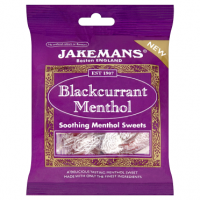 Jakemans Blackcurrant Menthol Soothing Sweets 100g