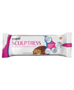 Maxi Nutrition Sculptress High Protein Diet Meal Replacement Bar Caramel Crunch 60g