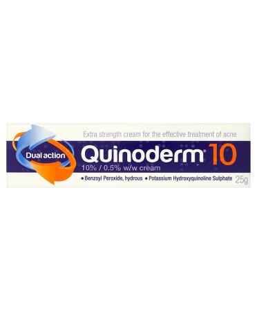 Quinoderm 10 Dual Action 10% / 0.5% w/w Cream 25g