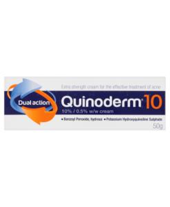 Quinoderm 10 Dual Action 10% / 0.5% w/w Cream 50g