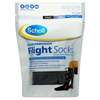 Scholl Flight Socks Black 1 Pair Shoe Sizes 3-6