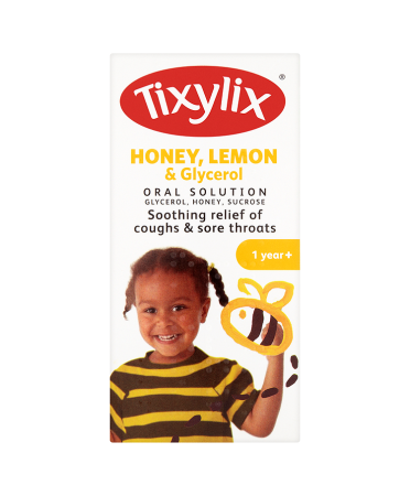 Tixylix Honey, Lemon & Glycerol Oral Solution 1 Year+ 100ml