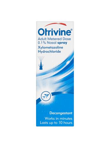 Otrivine Adult Metered Dose 0.1% Nasal Spray 10ml