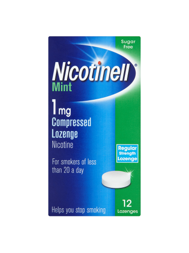 Nicotinell Mint 1mg Compressed Lozenge Regular Strength 12 Lozenges