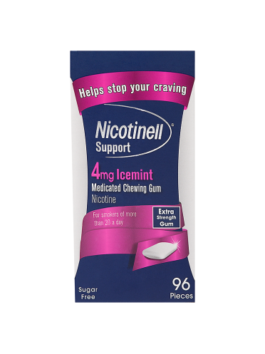 Nicotinell Support 4mg Icemint Medicated Chewing Gum Extra Strength 96 Pieces