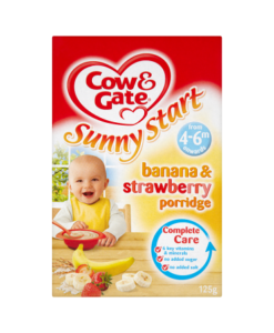 Cow & Gate Sunny Start Banana & Strawberry Porridge from 4-6m Onwards 125g