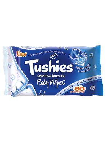 Tushies Sensitive Baby Wipes 80 Wipes Doorstep Pharmacy