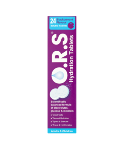 O.R.S Hydration Tablets Adults & Children 24 Blackcurrant Flavour Soluble Tablets