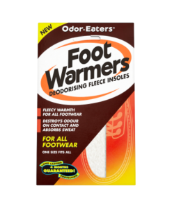 Odor-Eaters Foot Warmers Deodorising Fleece Insoles
