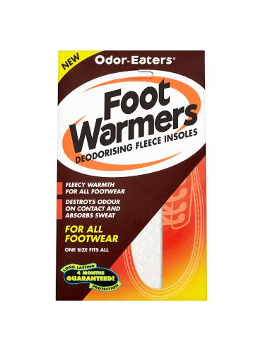 Odor-Eaters Foot Warmers Deodorising Fleece Insoles