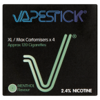 Vapestick 4 Nicotine XL/Max Cartomisers Menthol Flavour 2.4%