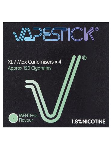 Vapestick XL/Max Menthol Flavour 1.8% Cartomisers 4-Pack